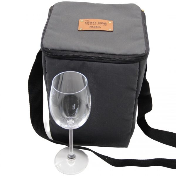 4 glass wine glass carrier bag by Madala Bags