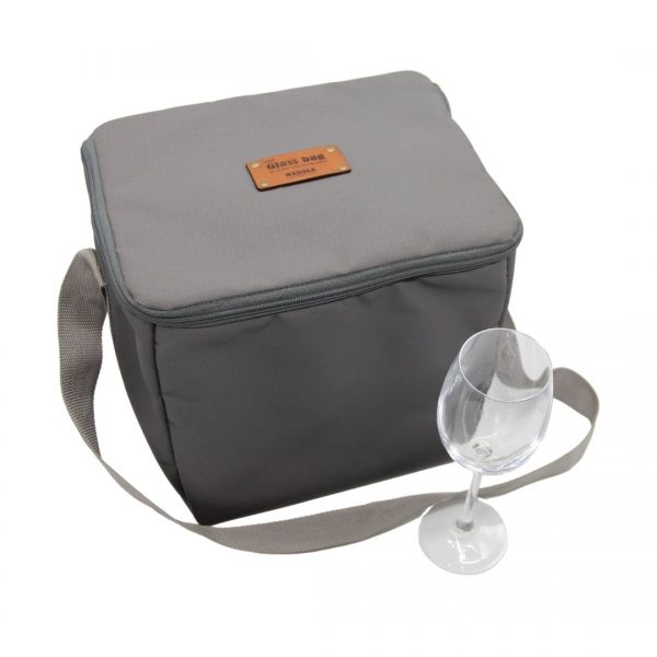 Wine glass carrier bag by Madala Bags